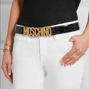 Moschino Women's logo belt